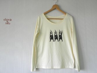 サーカス マレー熊 長袖Tシャツ (レディース/クリーム)の画像