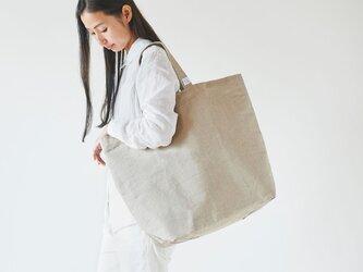 リネン帆布のトートバッグ(L)の画像
