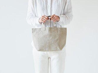 【受注製作】リネン帆布のトートバッグ(S)の画像
