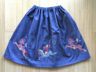 【再販】デニムのスカート ポニー  の画像