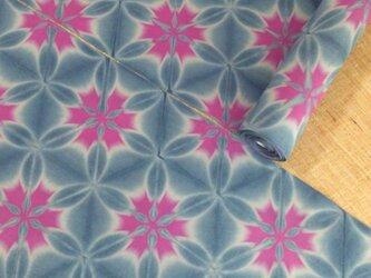 雪花絞り木綿反物13m 抜染の雪花絞りの画像
