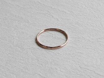 桃色十金極細丸棒槌目指輪 rr-53の画像