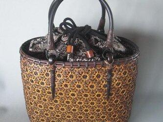 竹花編みバッグ1の画像