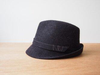 【受注製作】Stitched Soft Hat - grey mixの画像