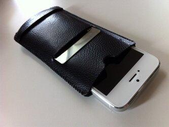 iPhone5 栃木レザーの2ウェイケース+カードの画像