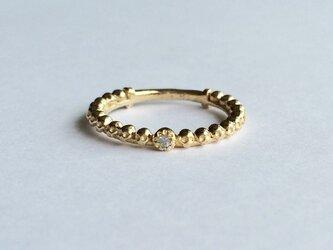ダイヤモンド&ハーフエタニティリング gold colorの画像