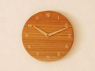 掛け時計 丸 けやき材⑤の画像