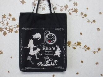 A4サイズトートバッグ★両面使える★アリス★女の子★の画像