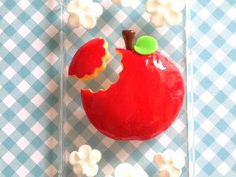 蜜りんごスマホケースかじりかけ付きの画像