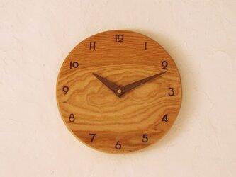 掛け時計 丸 けやき材⑨の画像