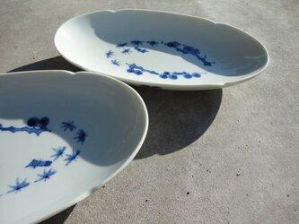 松竹梅 オーバル皿の画像
