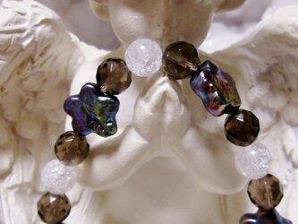 淡水パール&スモーキークォーツ&クラック水晶・ブレスレットの画像