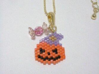 ハロウィンネックレス(Gold)☆かぼちゃ☆の画像