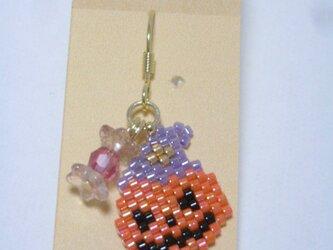ハロウィンピアス(Gold)☆かぼちゃ☆の画像