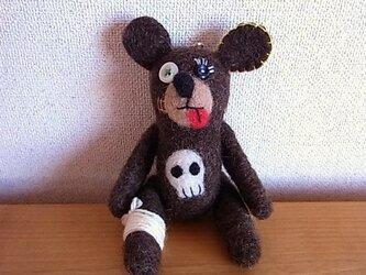 【Mさま・ご注文品】羊毛くま・スカルくまの画像