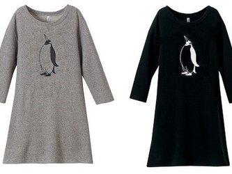 ペンギンワンピ-ス, クルーネック スウェット ワンピ-スの画像
