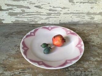 ピンクのプレート(Flower)の画像