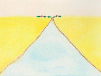 【再販】「春風」イラスト原画  ※額縁入りの画像