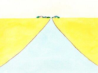 【受注制作】「春風」イラスト原画  ※木製額縁入りの画像