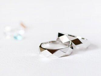 ダイヤモンドカット リング シルバー925の画像