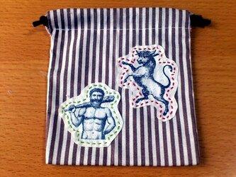 クラシックプリント巾着(うし×メンズ)の画像