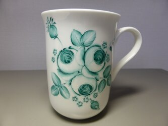 ポーセリンペイント 手描きのマグカップ 1の画像