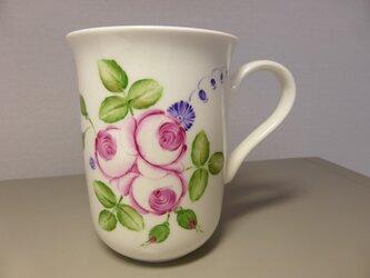 ポーセリンペイント 手描きのマグカップの画像