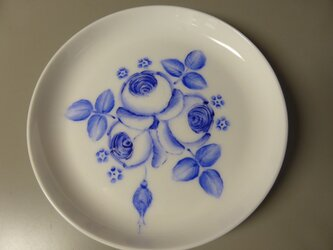 ポーセリンペイント 手描きの小皿2の画像