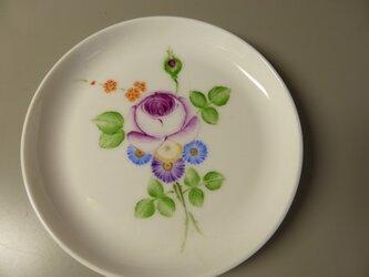 ポーセリンペイント 手描きの小皿 4の画像