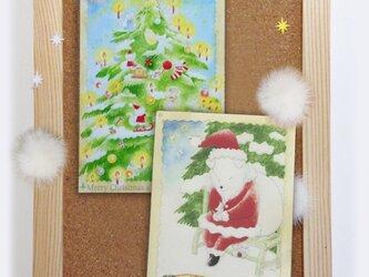 にゃんこ☆わんこクリスマス☆ポストカードの画像
