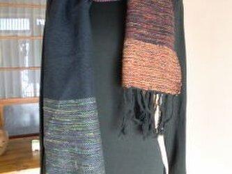 《手織り》シルクとウールのマフラーの画像