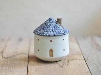 家のお湯のみ(青)の画像