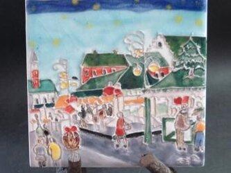 タイル画 ドイツのクリスマス市の画像
