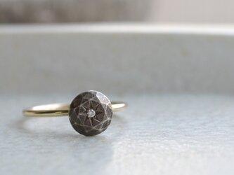 鈍色の石  Ring  (SV・Diamond・K10)の画像