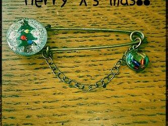 クリスマスツリー  ストールピンの画像