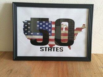 アメリカ50州ポスターA4の画像
