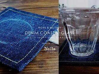 デニムコースター グラス / Denim coaster glassの画像
