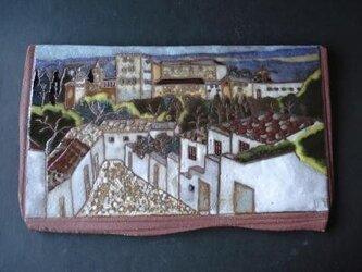 陶板画 風景画 グラナダの小径の画像