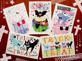 ハロウィンポストカード★5枚セットの画像
