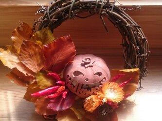 """【Φ25cm】ハロウィンリース""""Halloween""""の画像"""