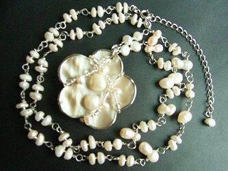 ◆◇◆淡水パールのペンダントネックレスの画像