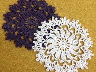 かぎ針編みのコースターの画像