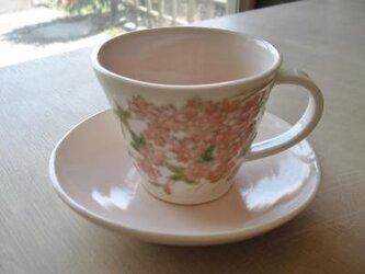 花の器 桜 パステルピンクのカップの画像