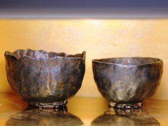 夫婦抹茶碗 銘「阿・吽」の画像