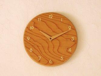 掛け時計 丸 けやき材⑩の画像