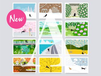 Newポストカード  Aセット(作家手作り-12枚入)の画像