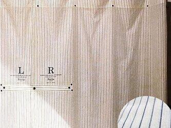 ストライプカーテン / Work stripe curtain shortの画像