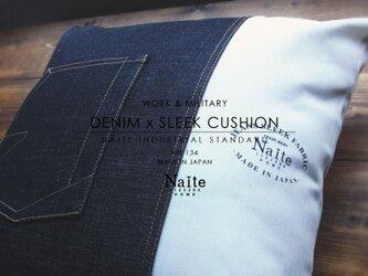 デニム クッション / Denim x Sleek cushionの画像