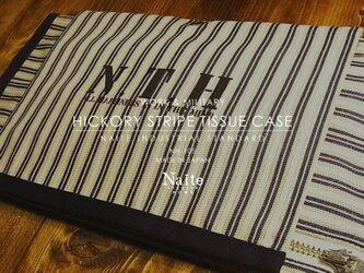 ティッシュケース / Hickory stripe tissue caseの画像