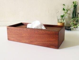 家具職人の作る ティッシュケース 「ブラックウォールナット」の画像
